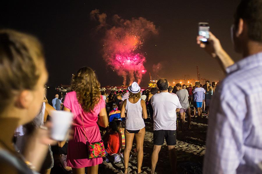 Malaga Spain fireworks