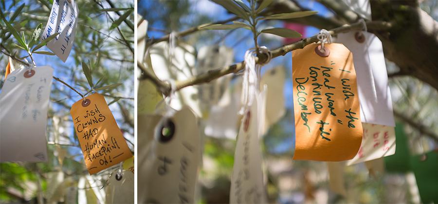 Cabtree restaurant wishing tree