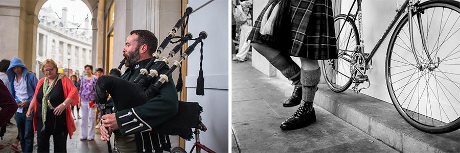 London musician bagpipe