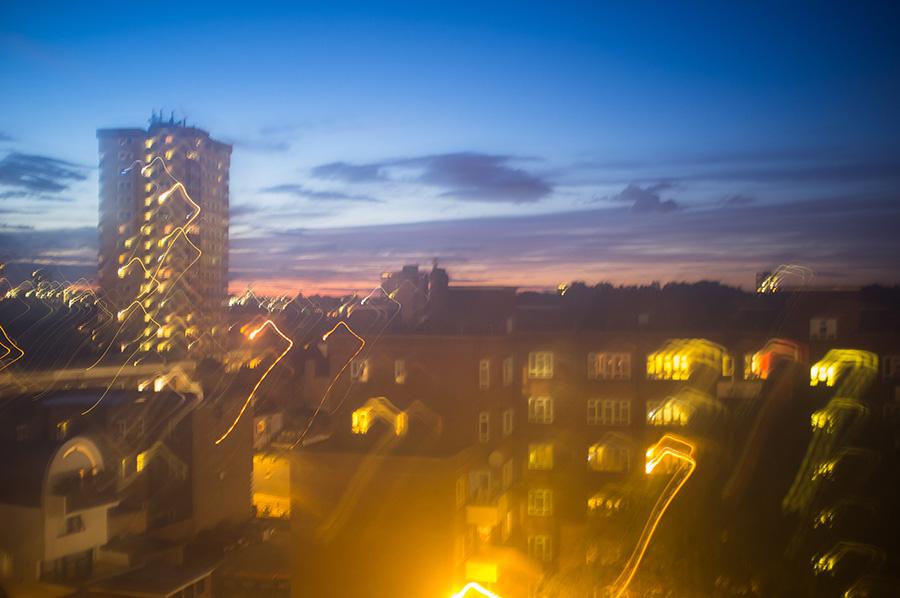 London night blurry