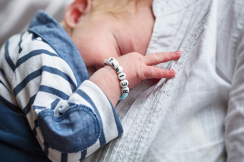 portrait of newborn baby boy Piet