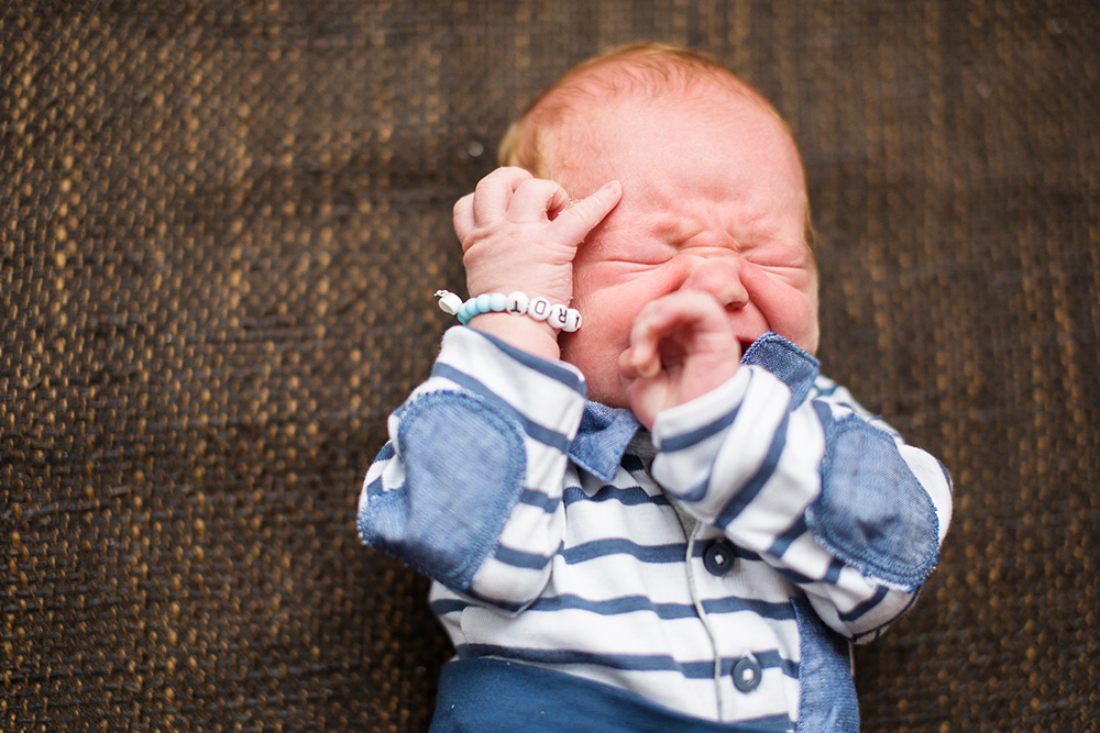 crying newborn baby boy
