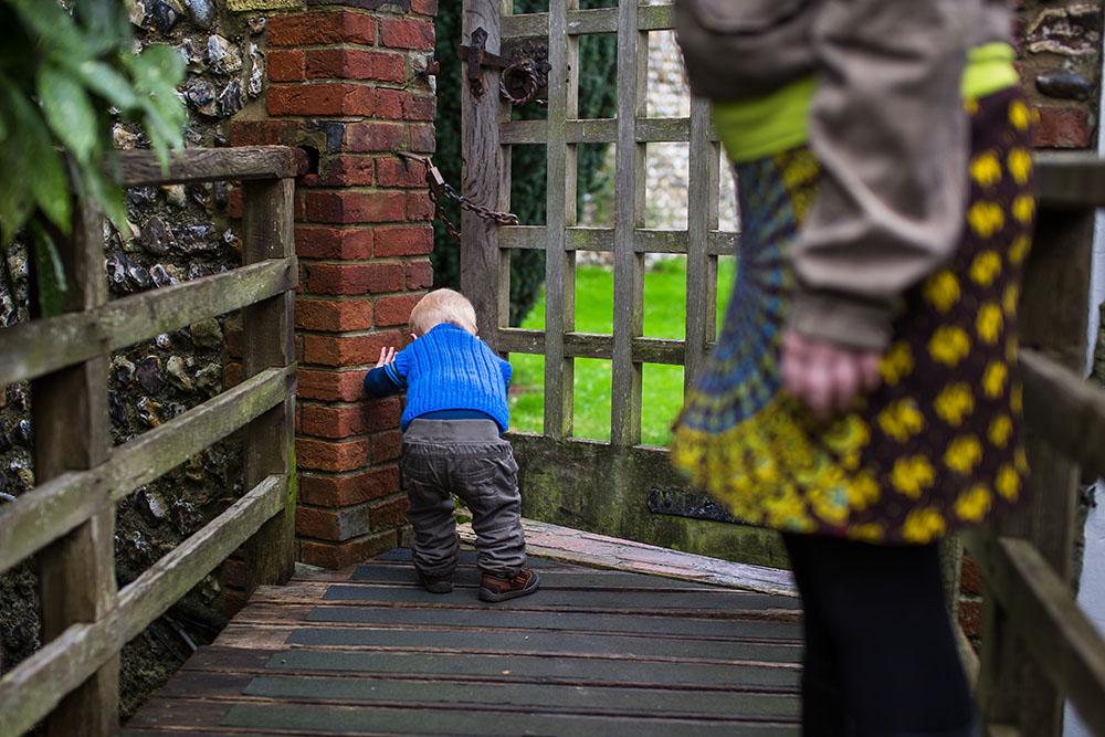 young bopy exploring
