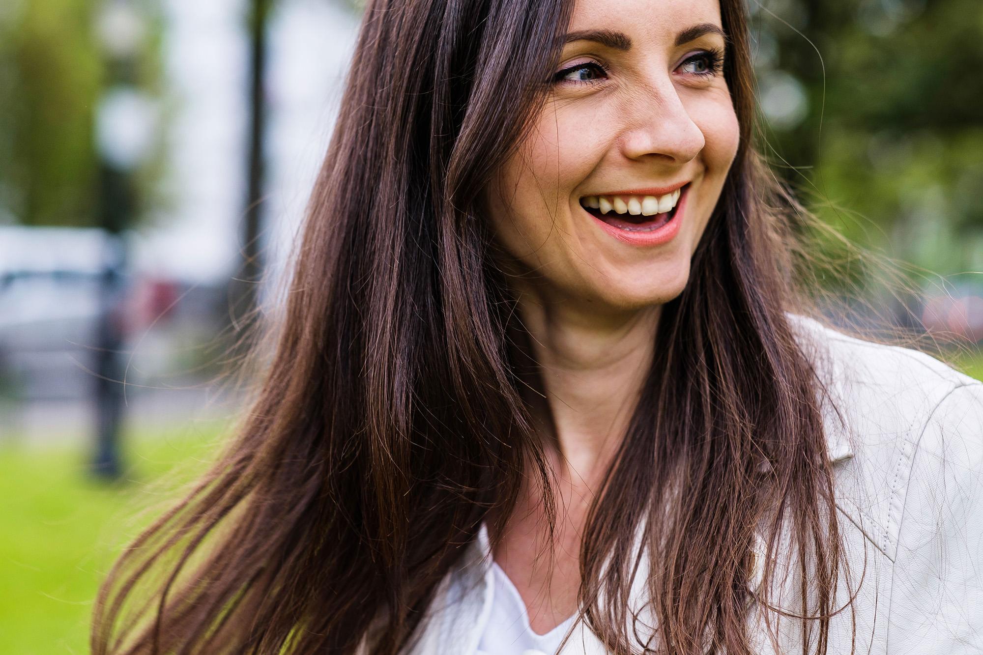 smiling woman Brighton