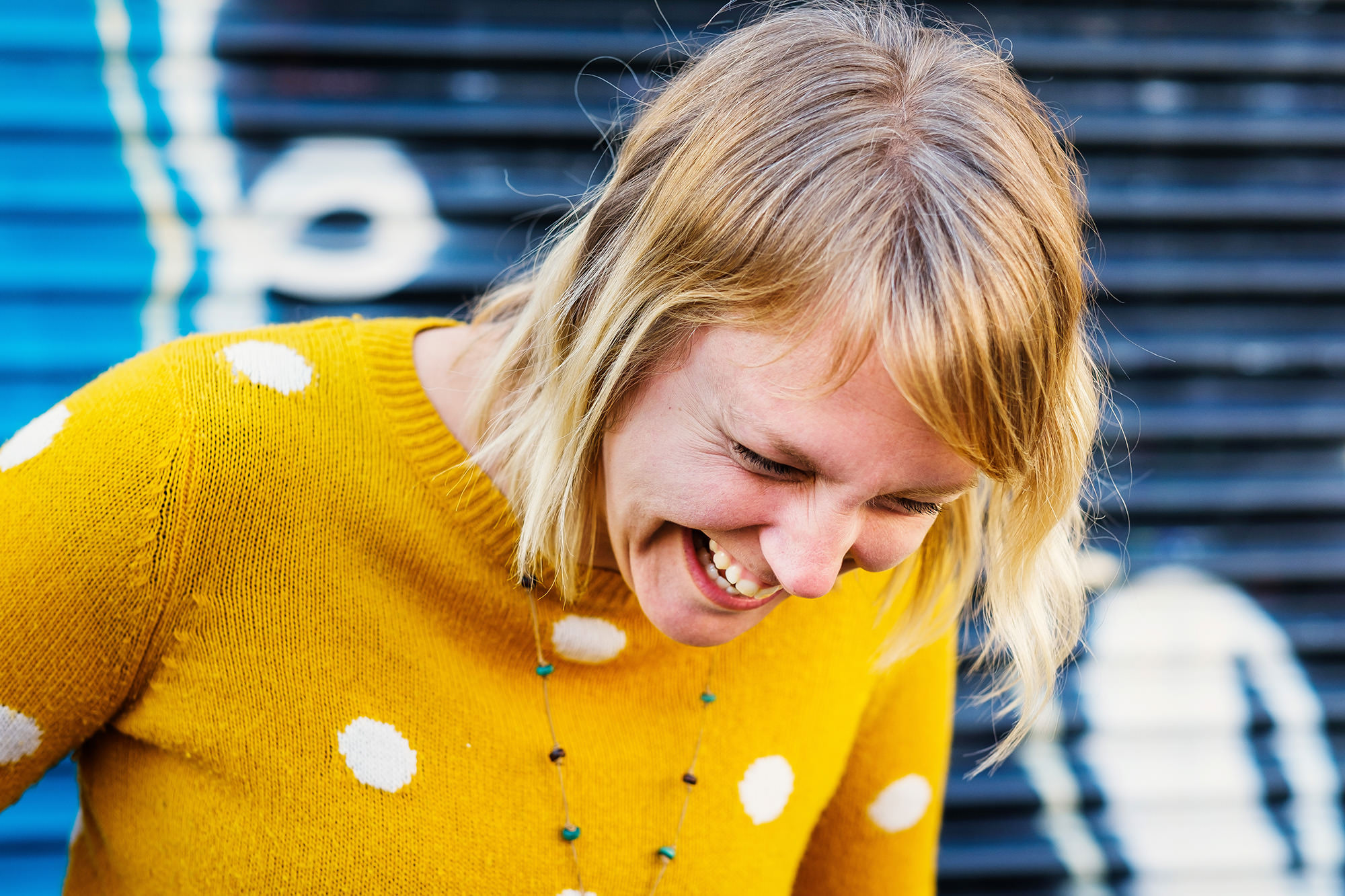 happy laughter brighton portrait
