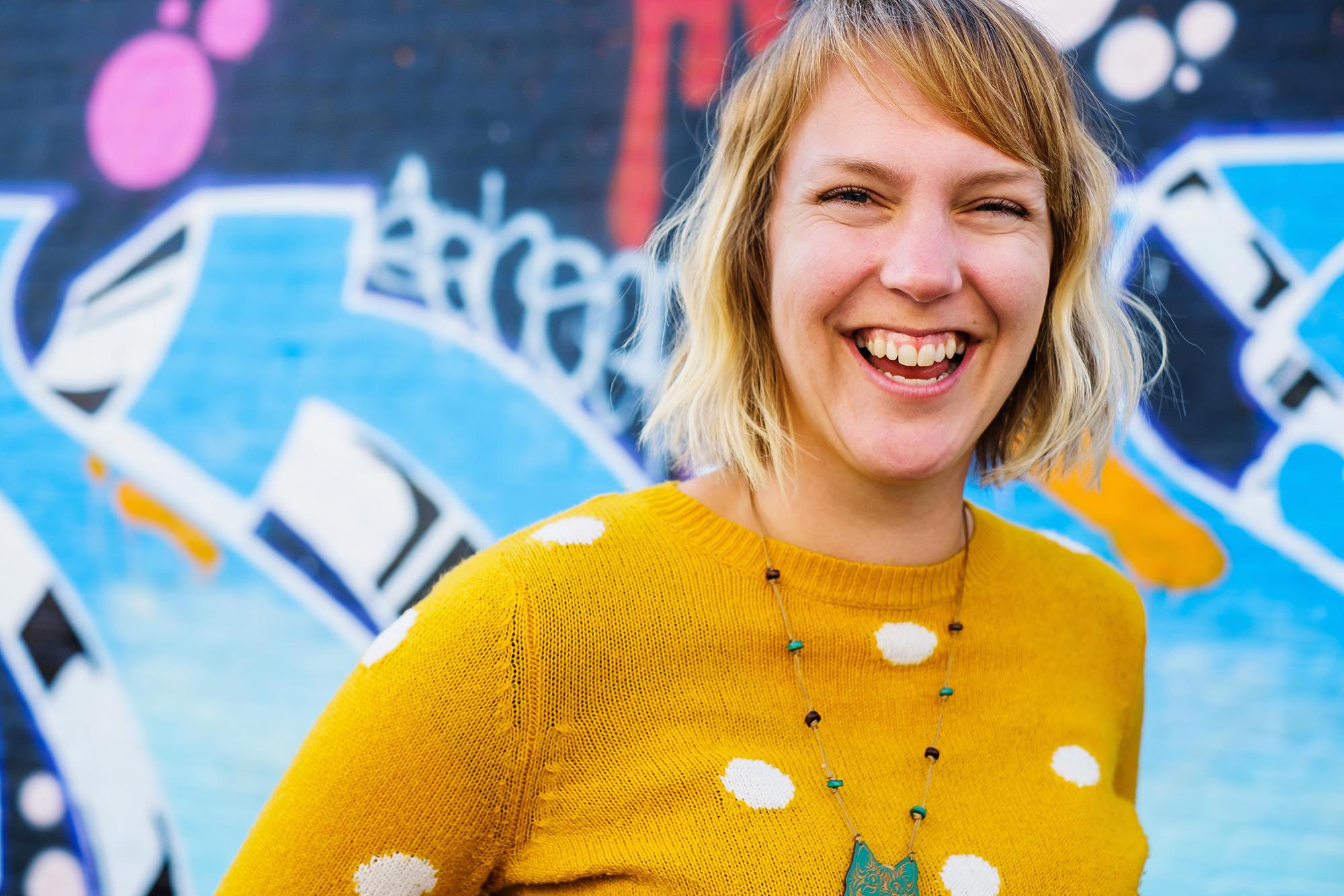 anna brighton portrait happy