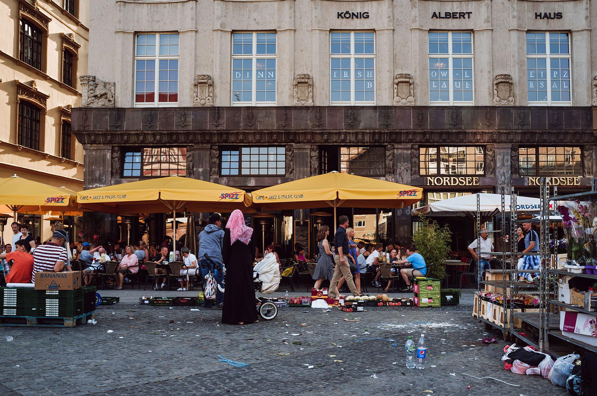 documenting leipzig market leipzig city centre