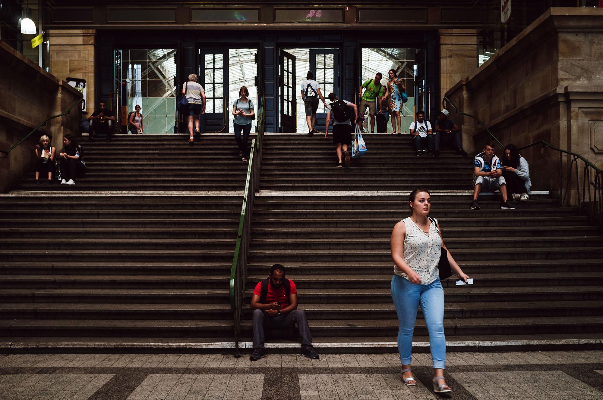 leipzihg main train station street photo