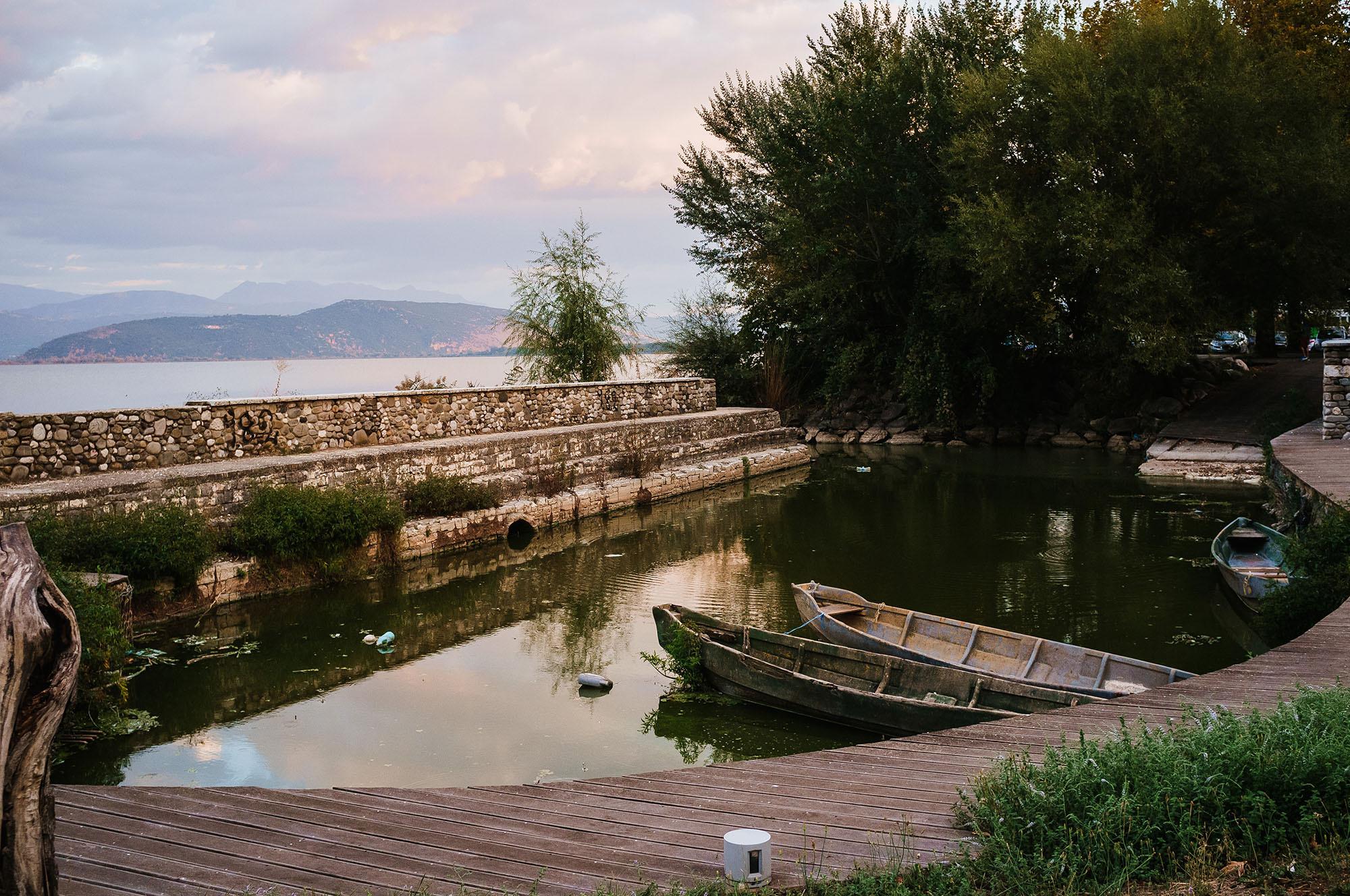 Lake ioannina Greece street