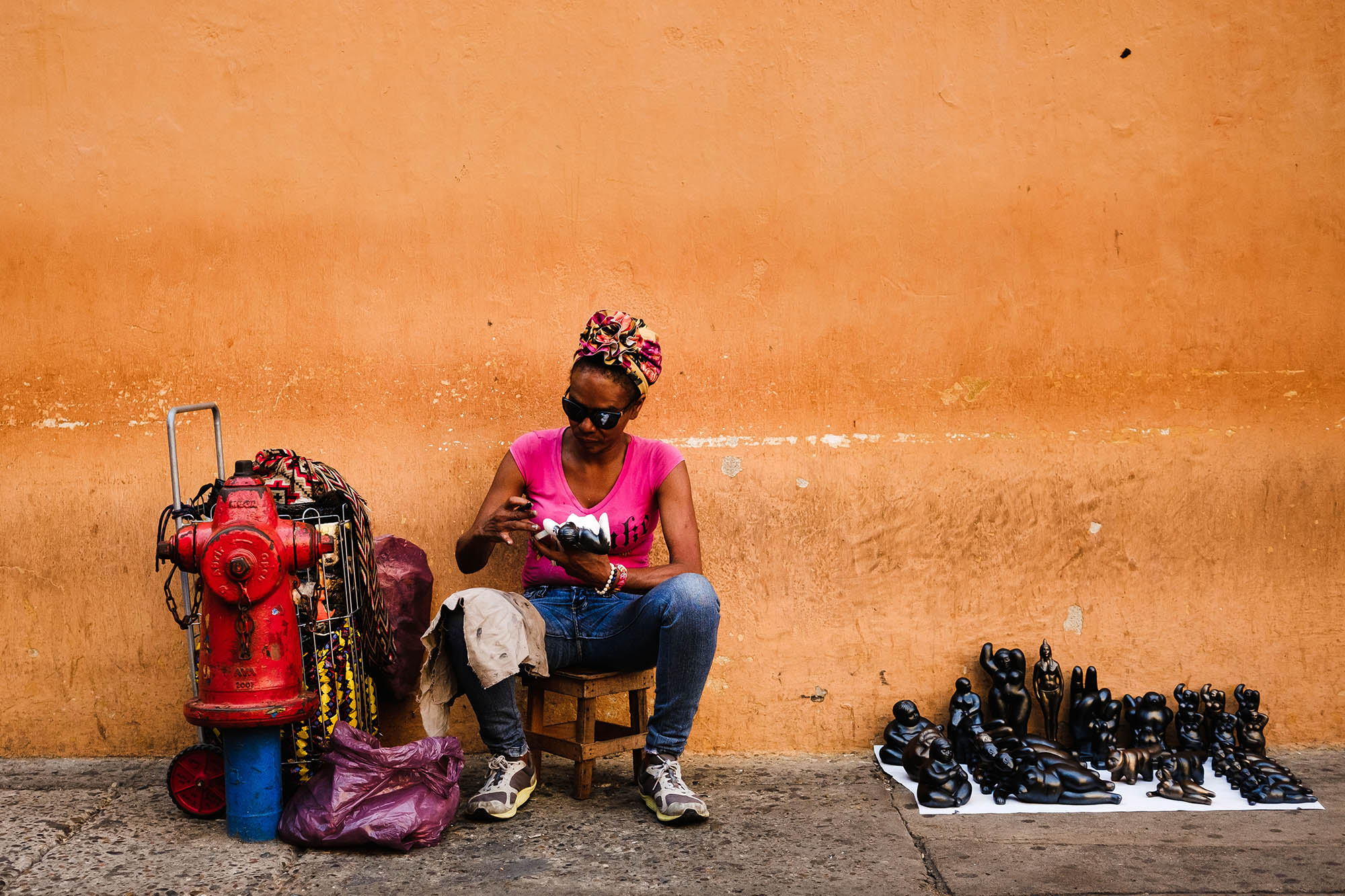 Street photography in Colombia