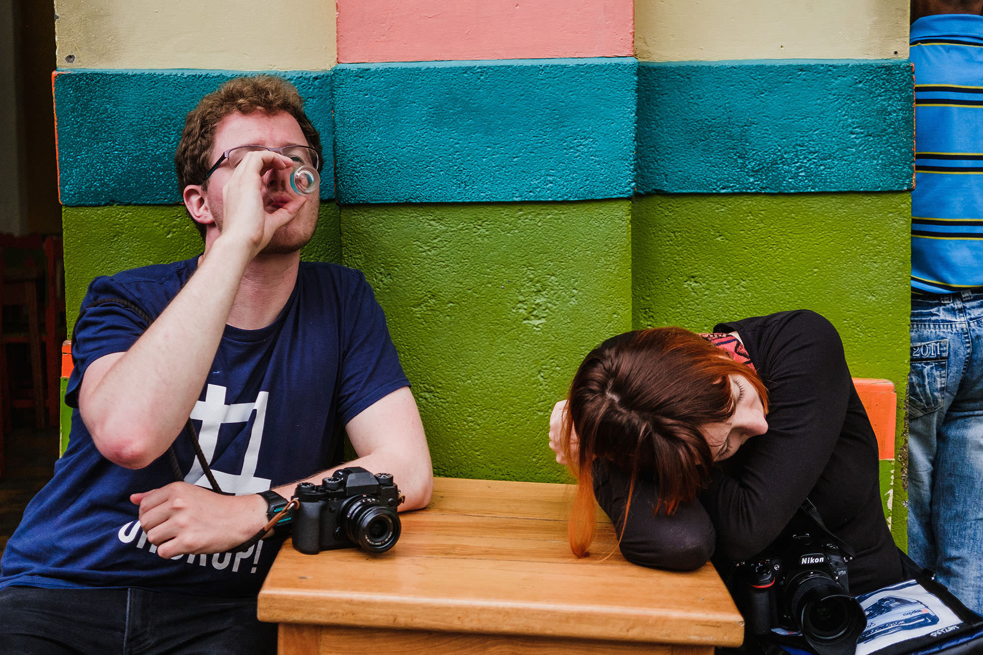Street photographers in Colombia