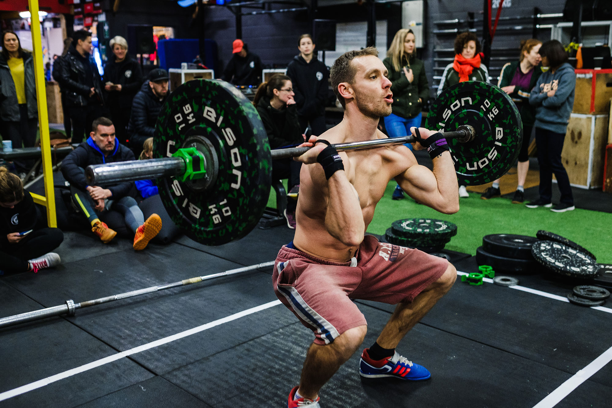 Workout athletes weightlifting