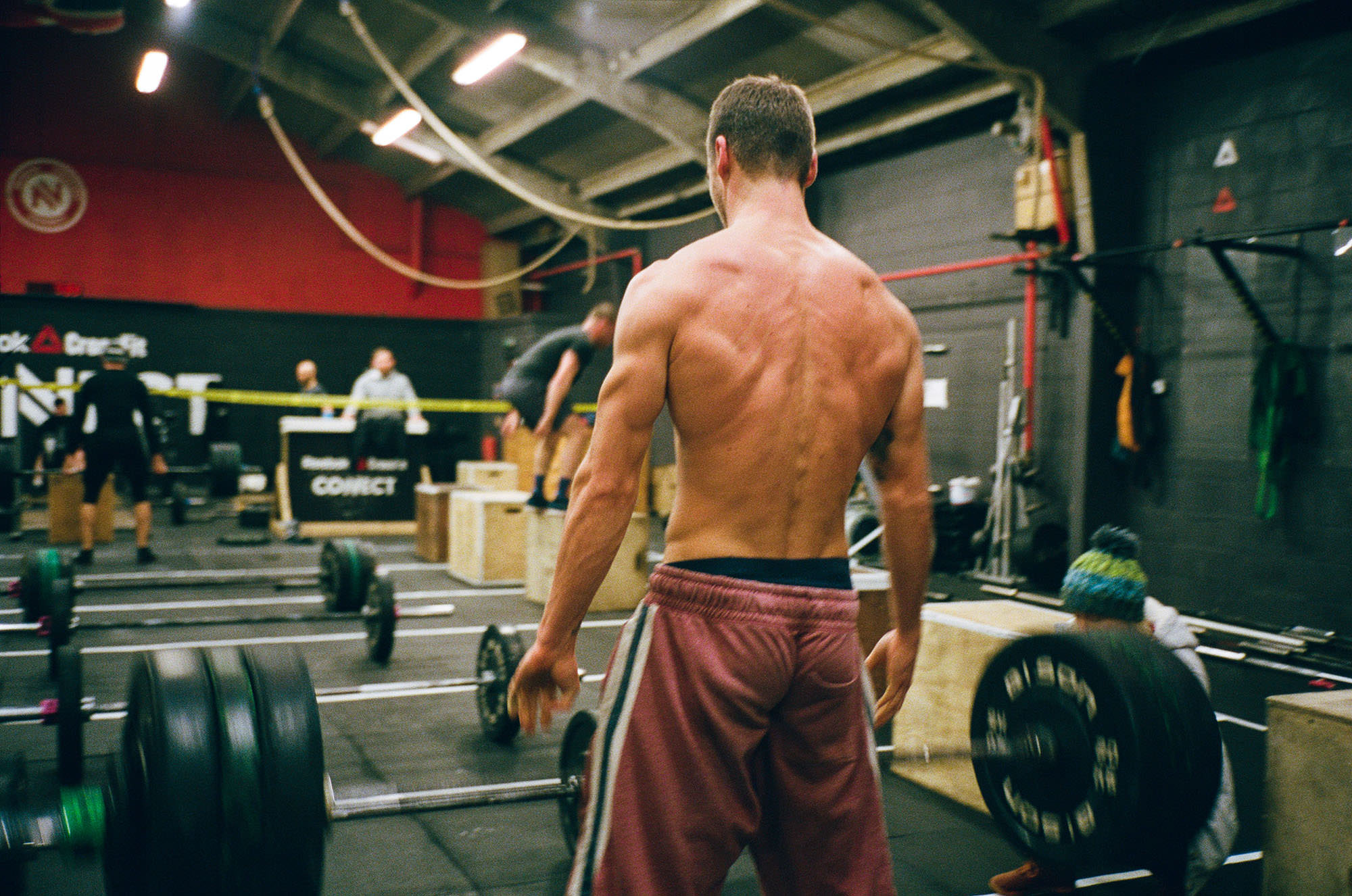 crossfit, athlete, weightliofting, film photography