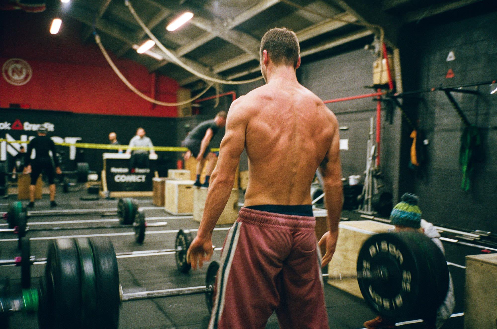 crossfit, athlete, weightliofting, film photography