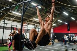 Workout athletes hard work sweating