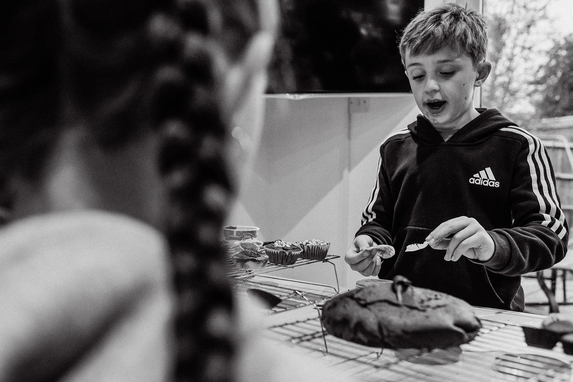 Documentary photography family portrait