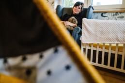 Documentary family photography pregnancy portraits