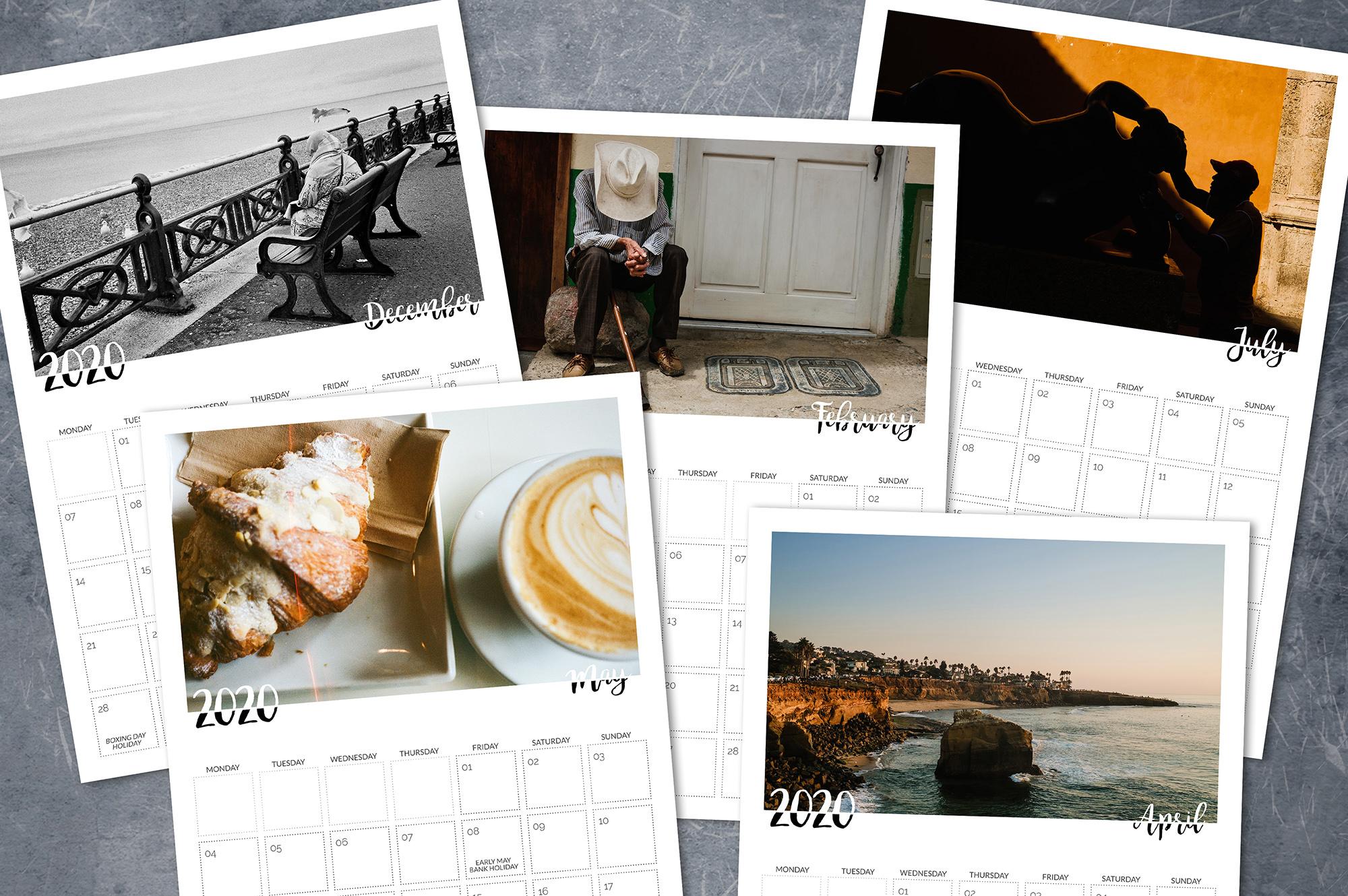 printable wall calendar 2020
