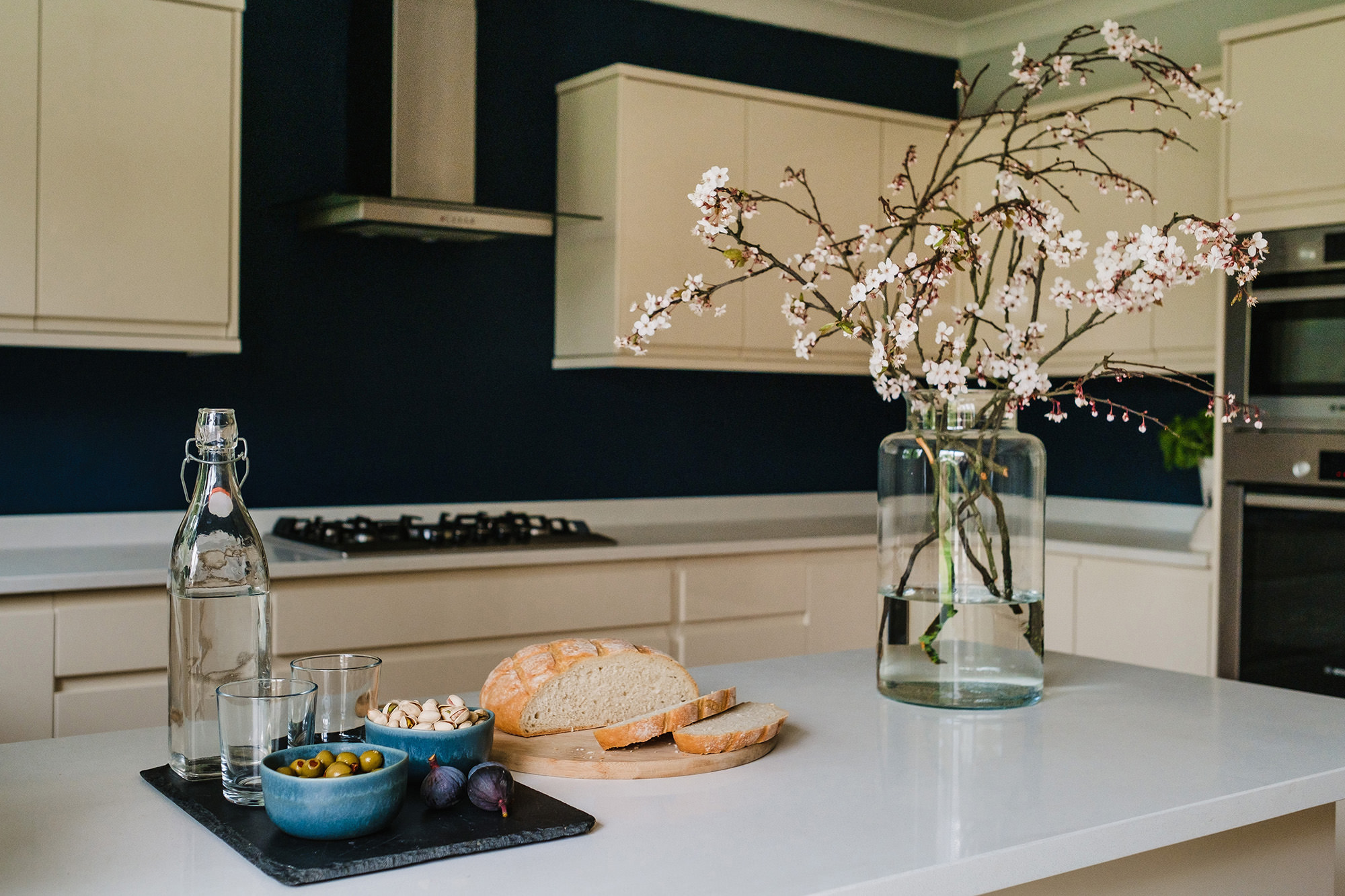 kitchen detail bread and styling