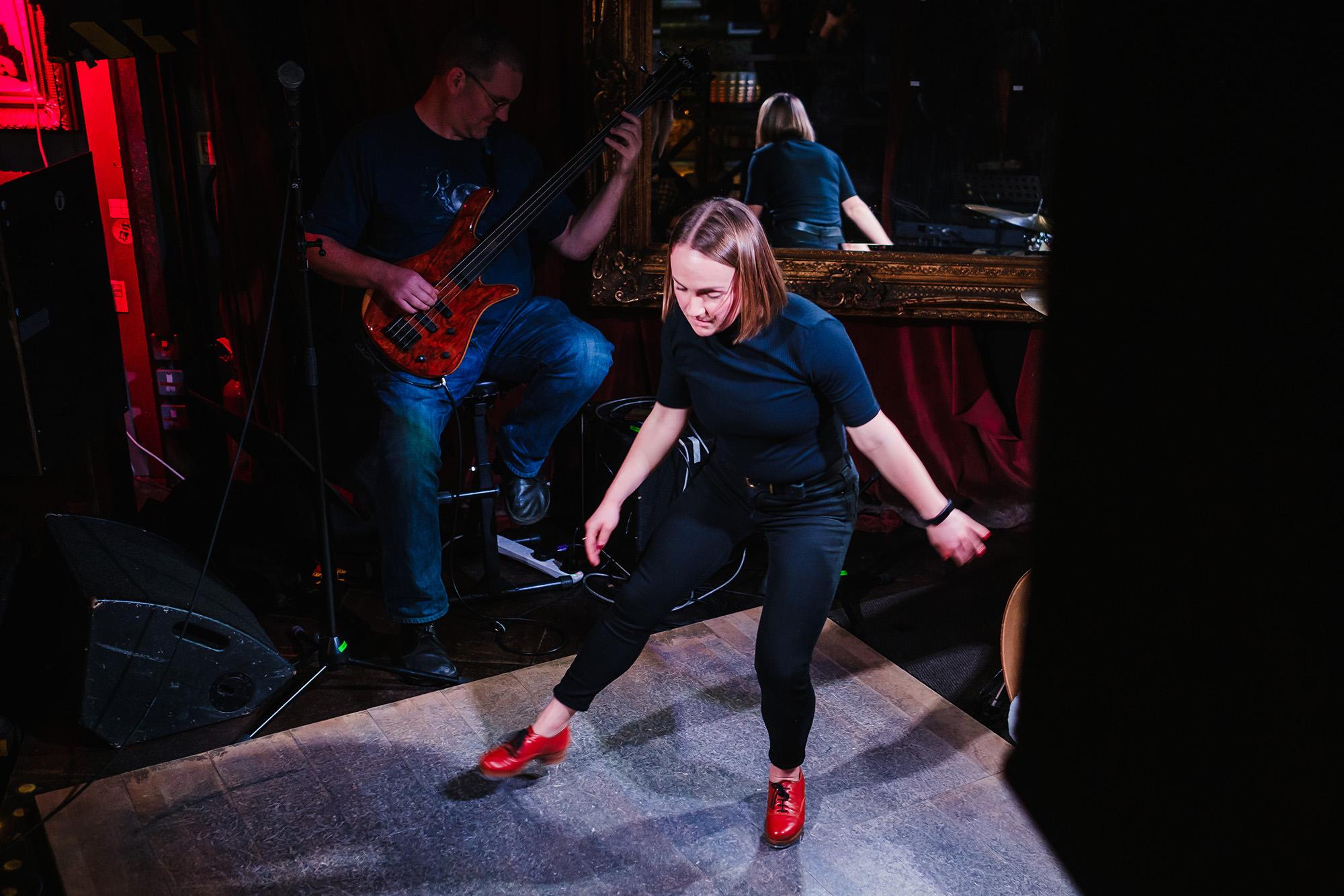 Adele Joel tap dancing London