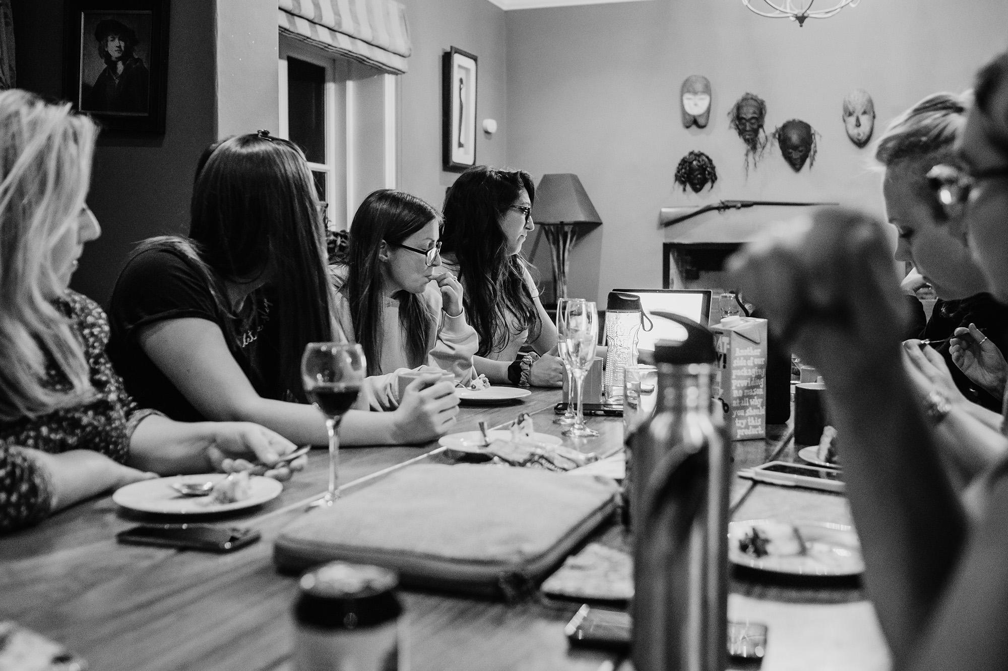 creative talk over dinner