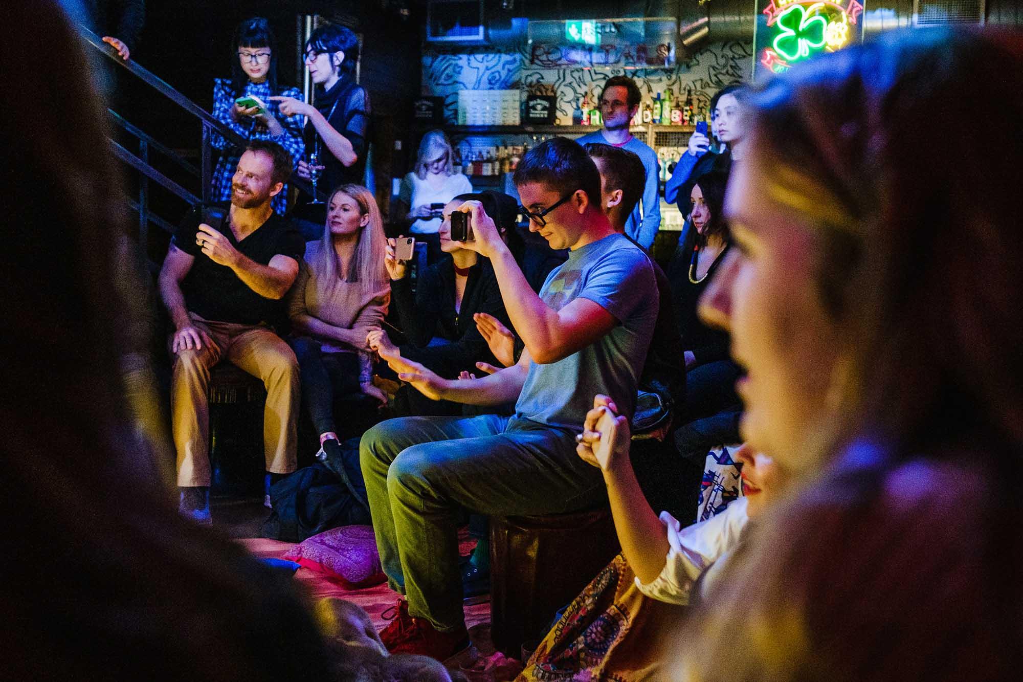 audience enjoying London Tap Jam