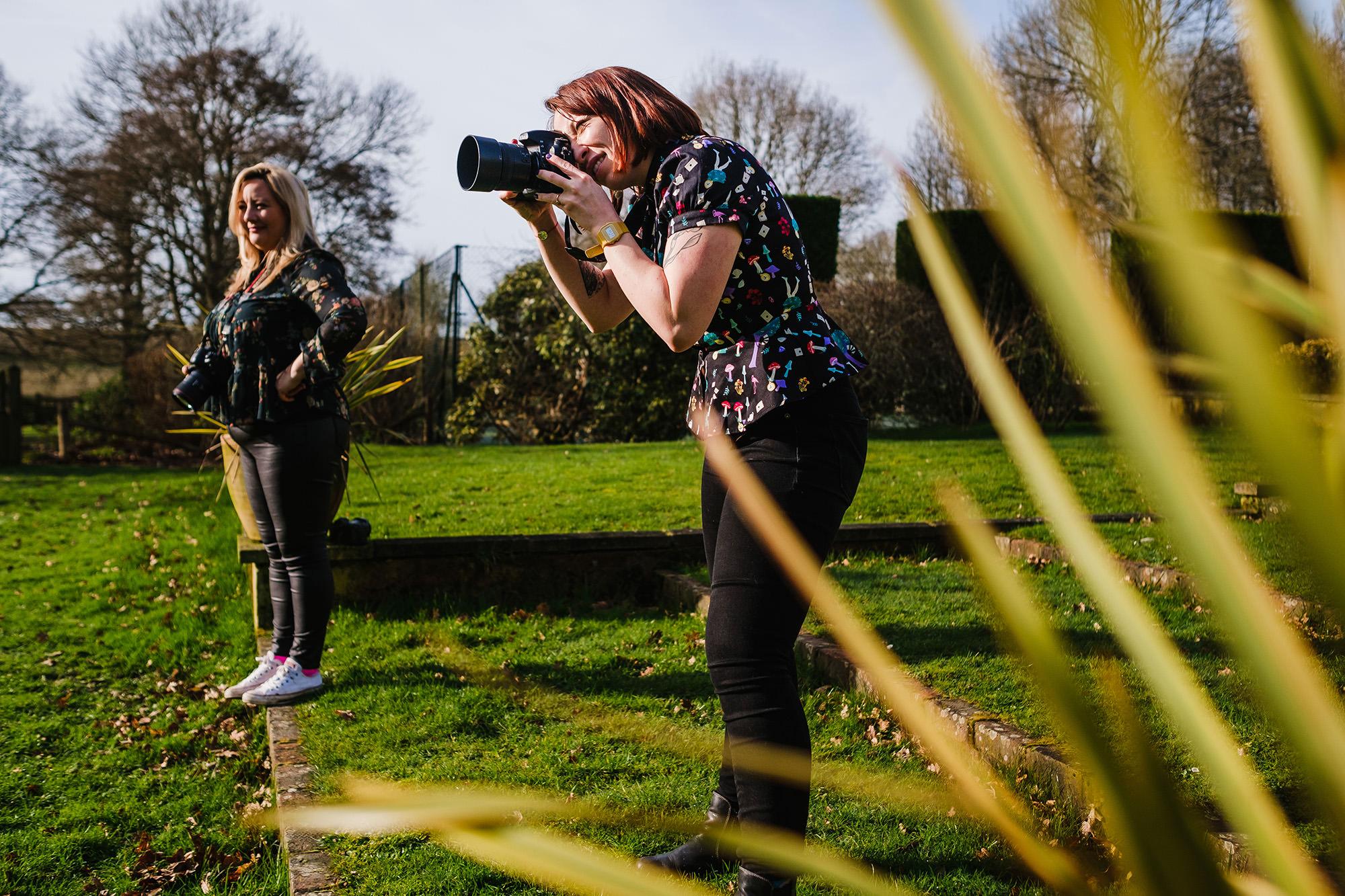 sunny day photographers shooting