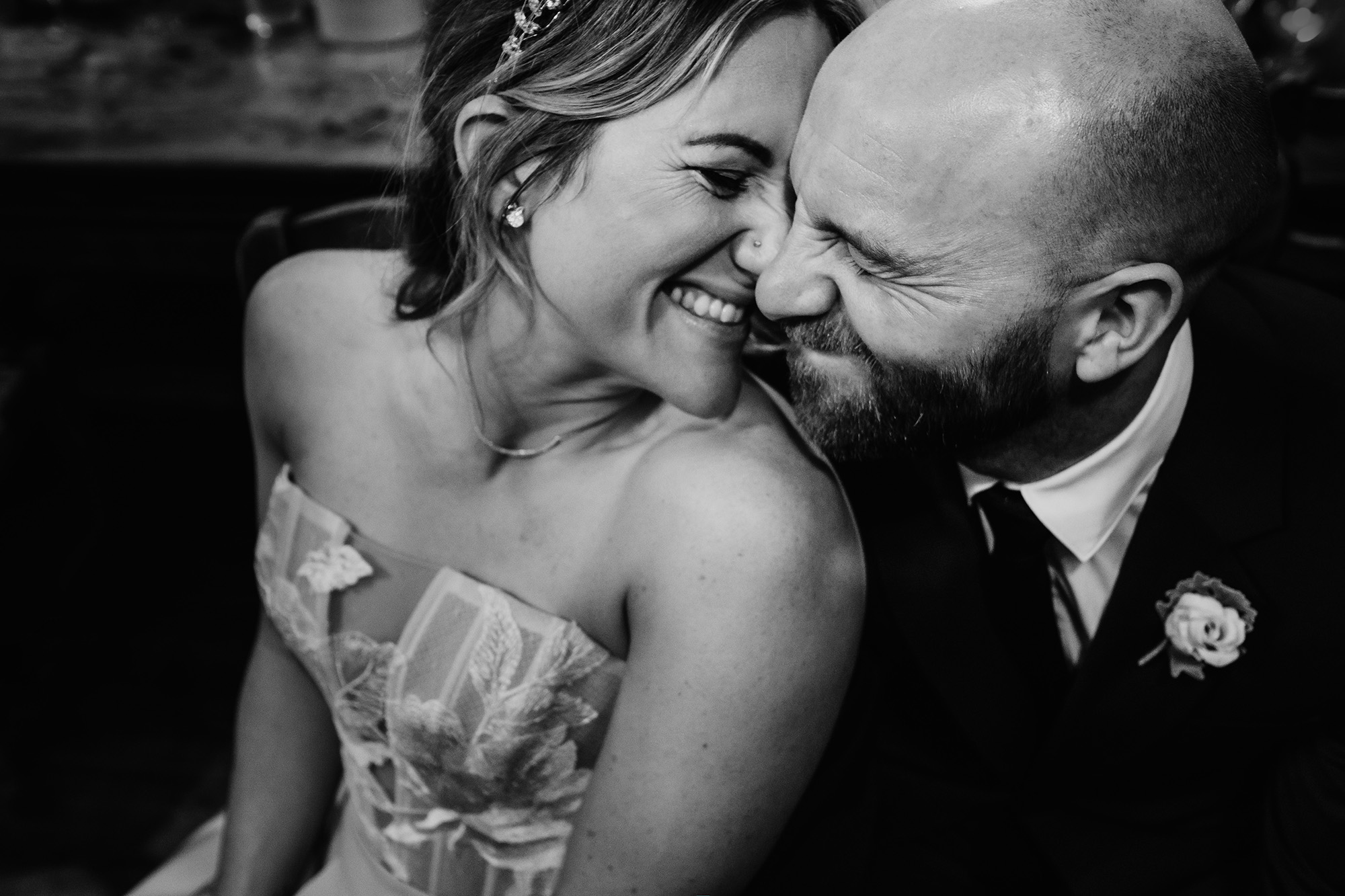wedding photography candid portrait bride and groom