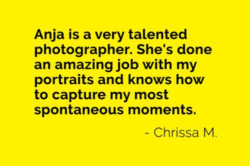 Chrissa client testimonial