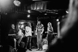 tapping and jamming on stage on London