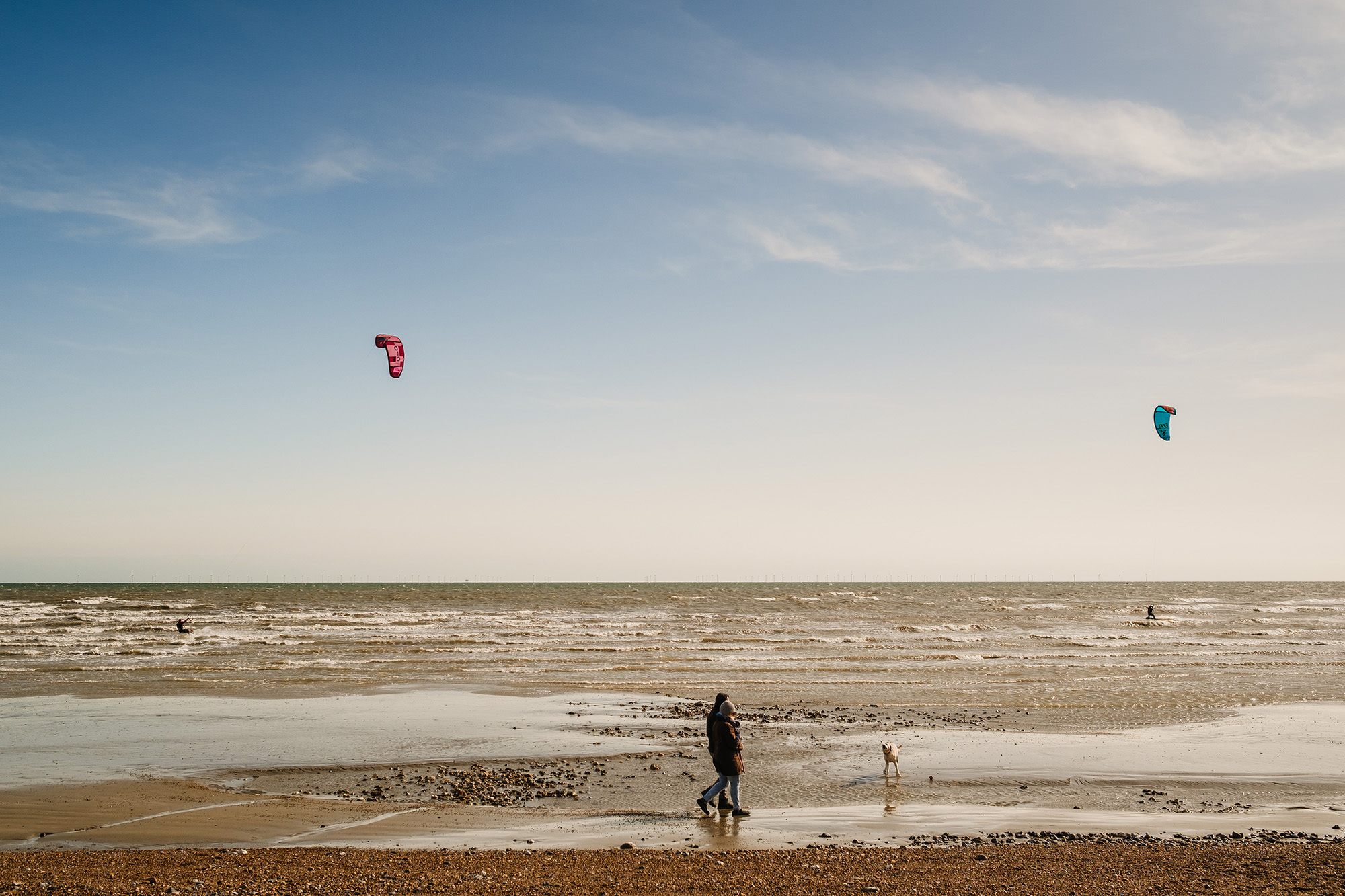 lancing beach windsurfer