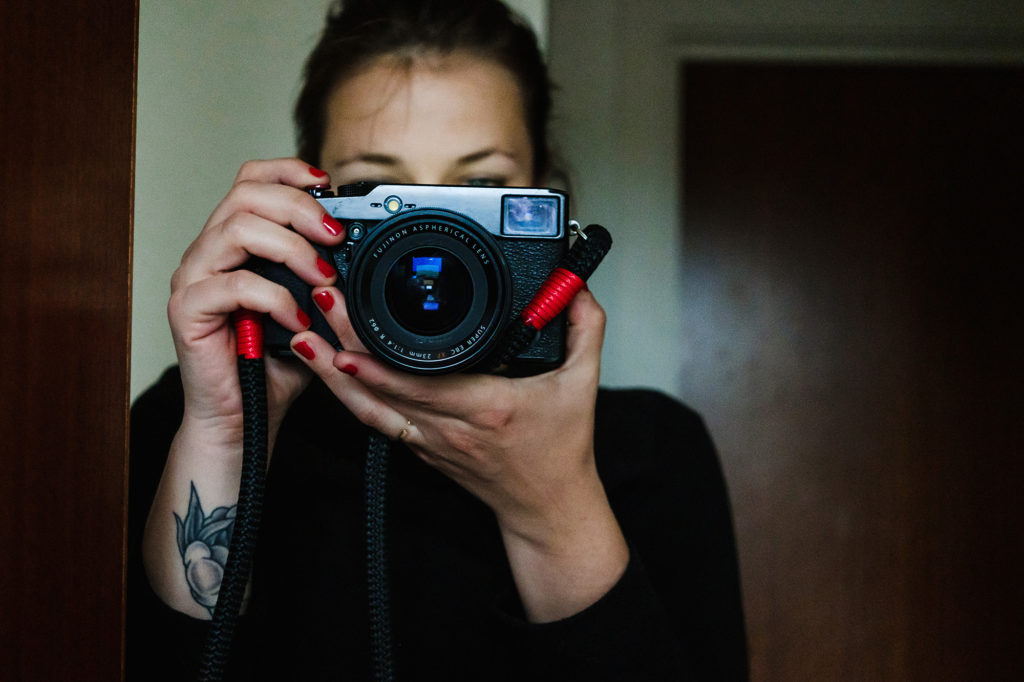 taking a photo with liveview fuji xpro1