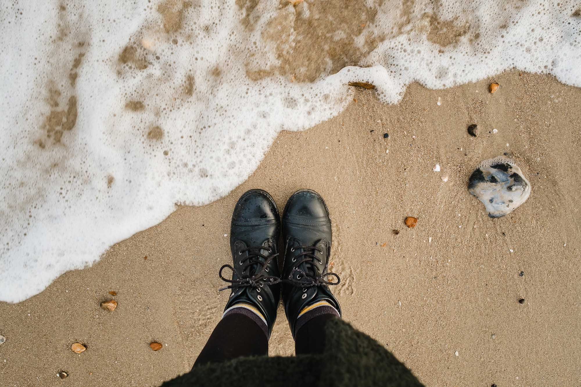 april musings on the beach
