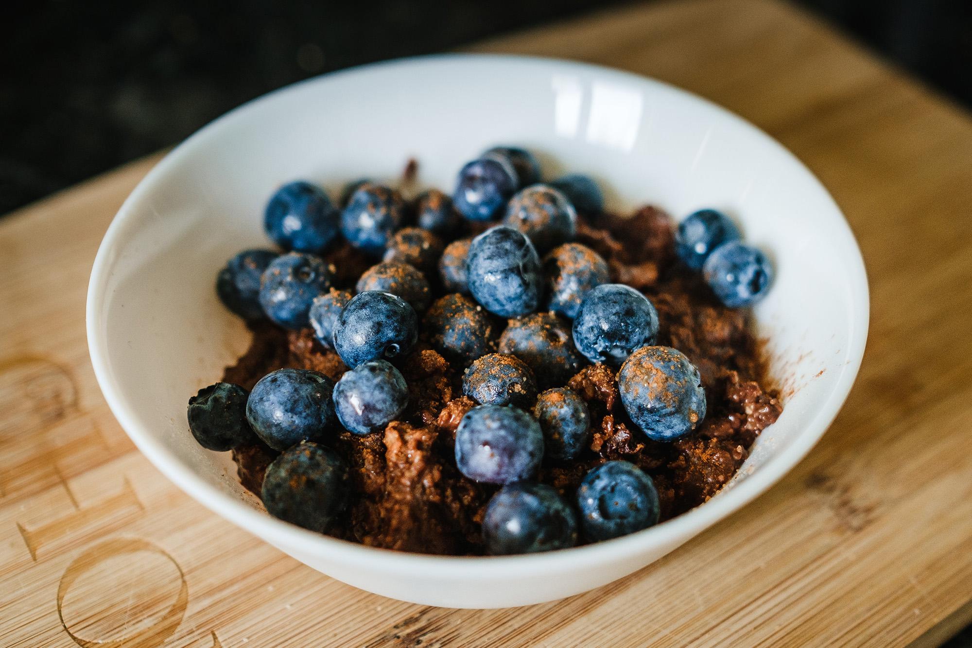 april lockdown diaries blueberry porridge