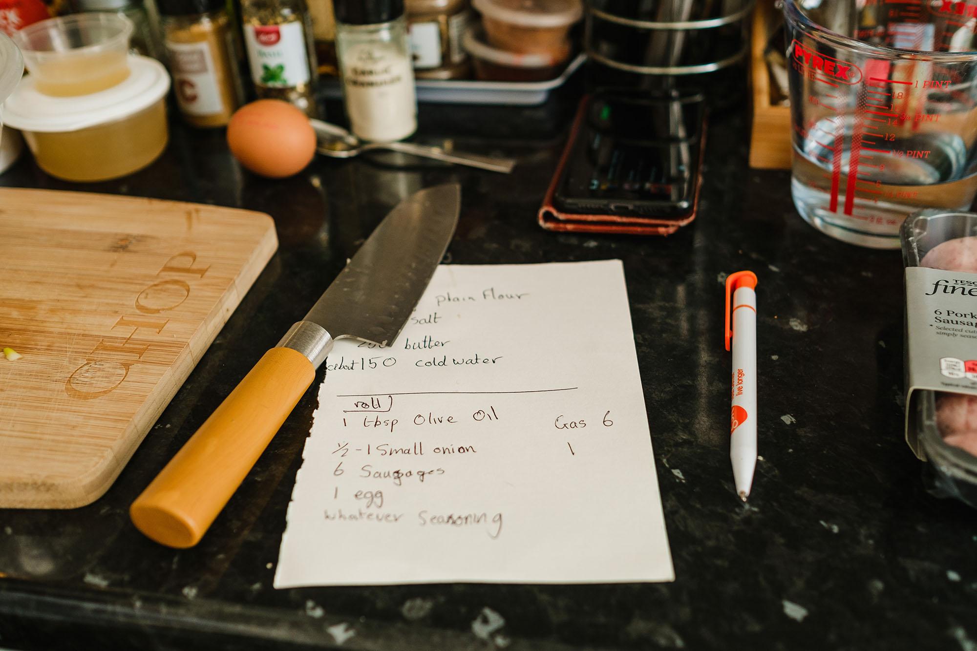 recipe for sausage rolls