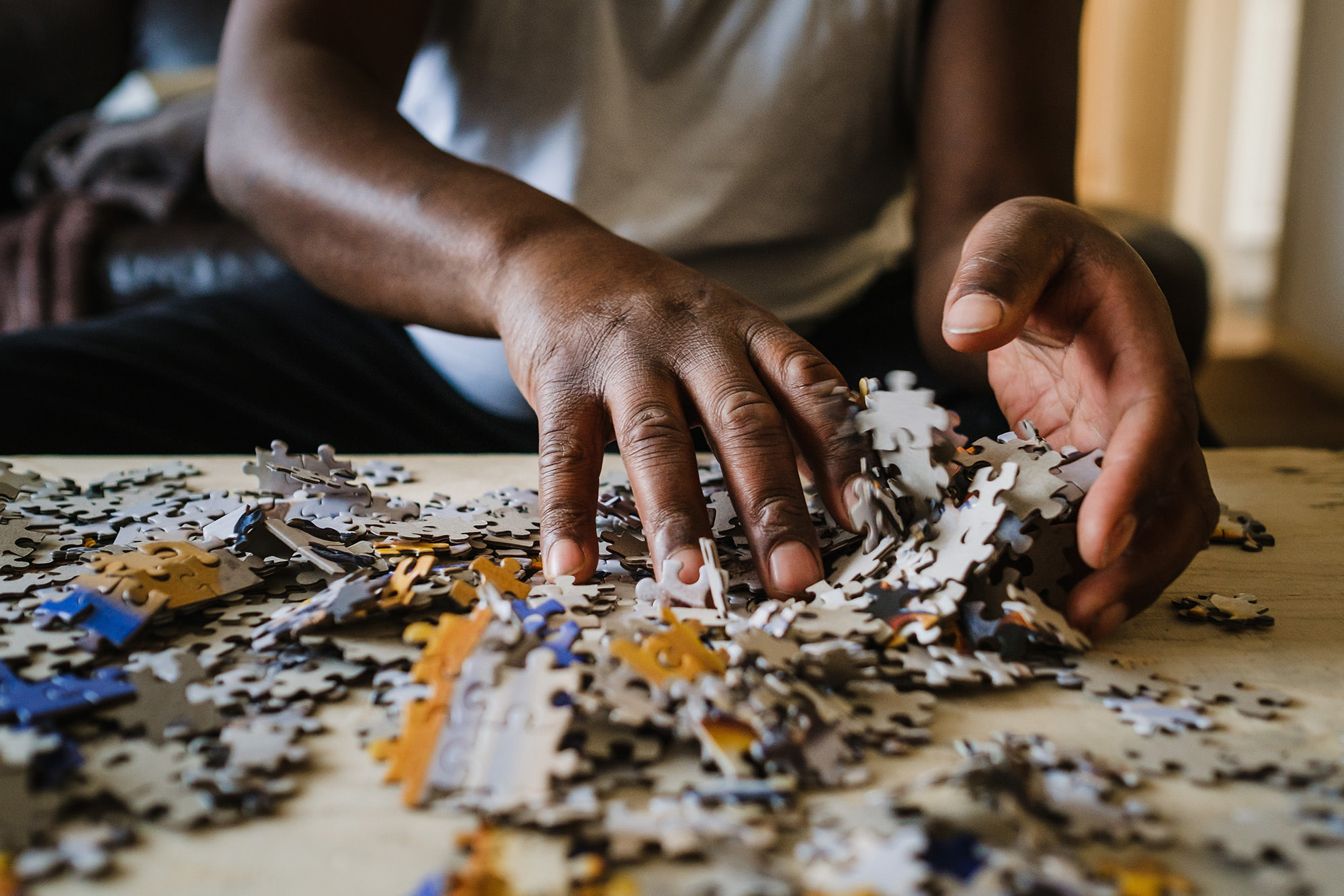 destroying a puzzle during self isolation