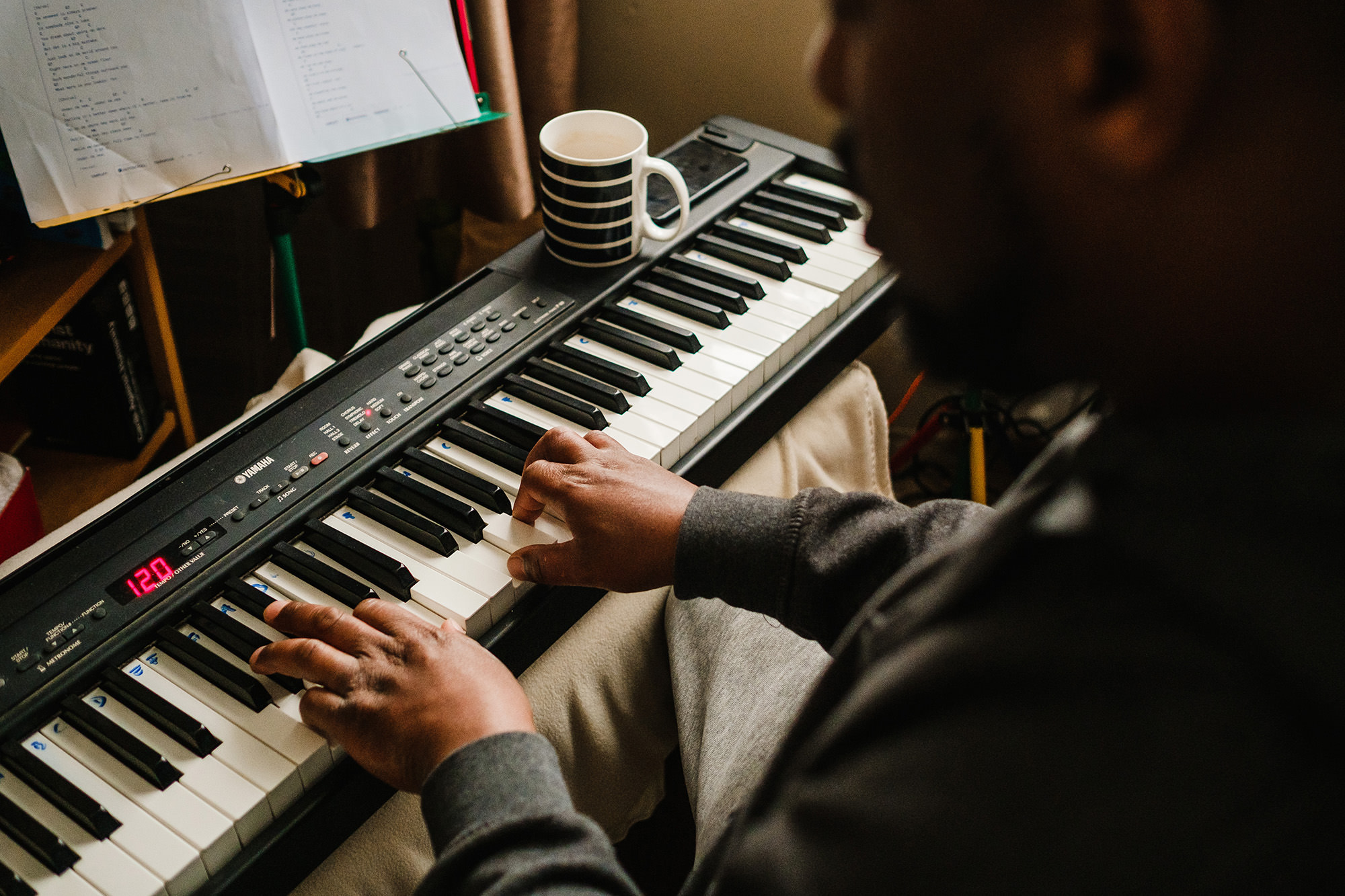 always making music piano time