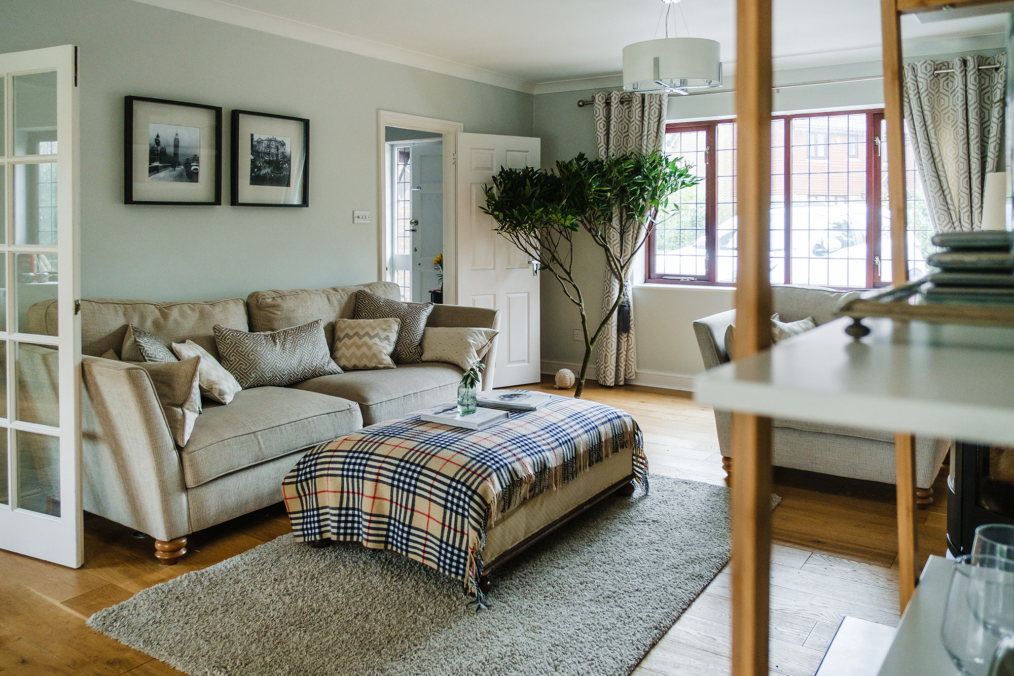 front room wide angle view interior design