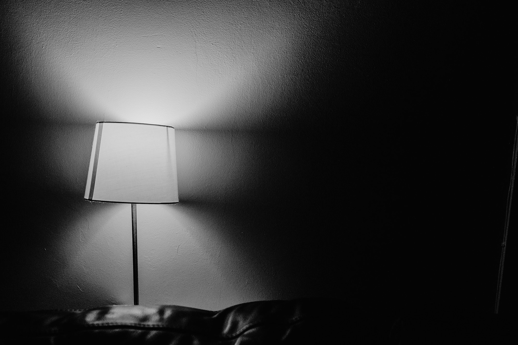 lamp in the dark documenting life