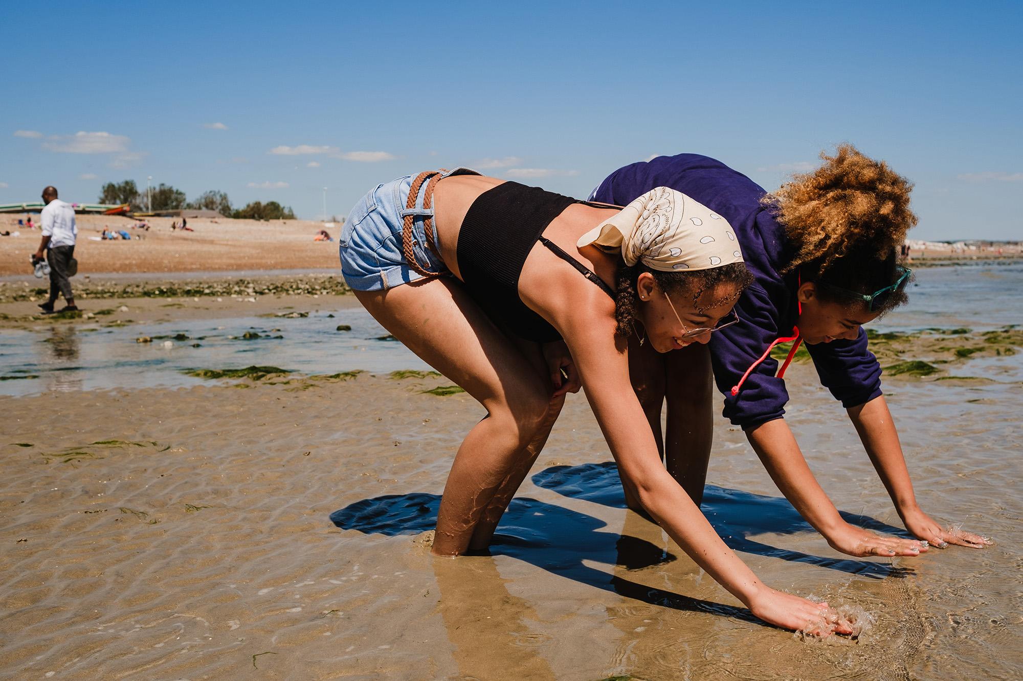 fun at the beach in summer