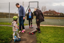 family day out on the playground