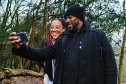 dad and daughter selfie
