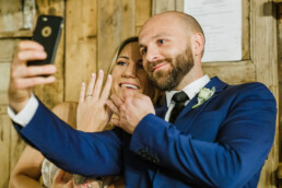 newlyweds married couple selfie