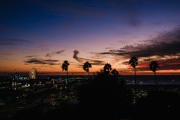 los angeles santa monica sunset wall calendar 2021