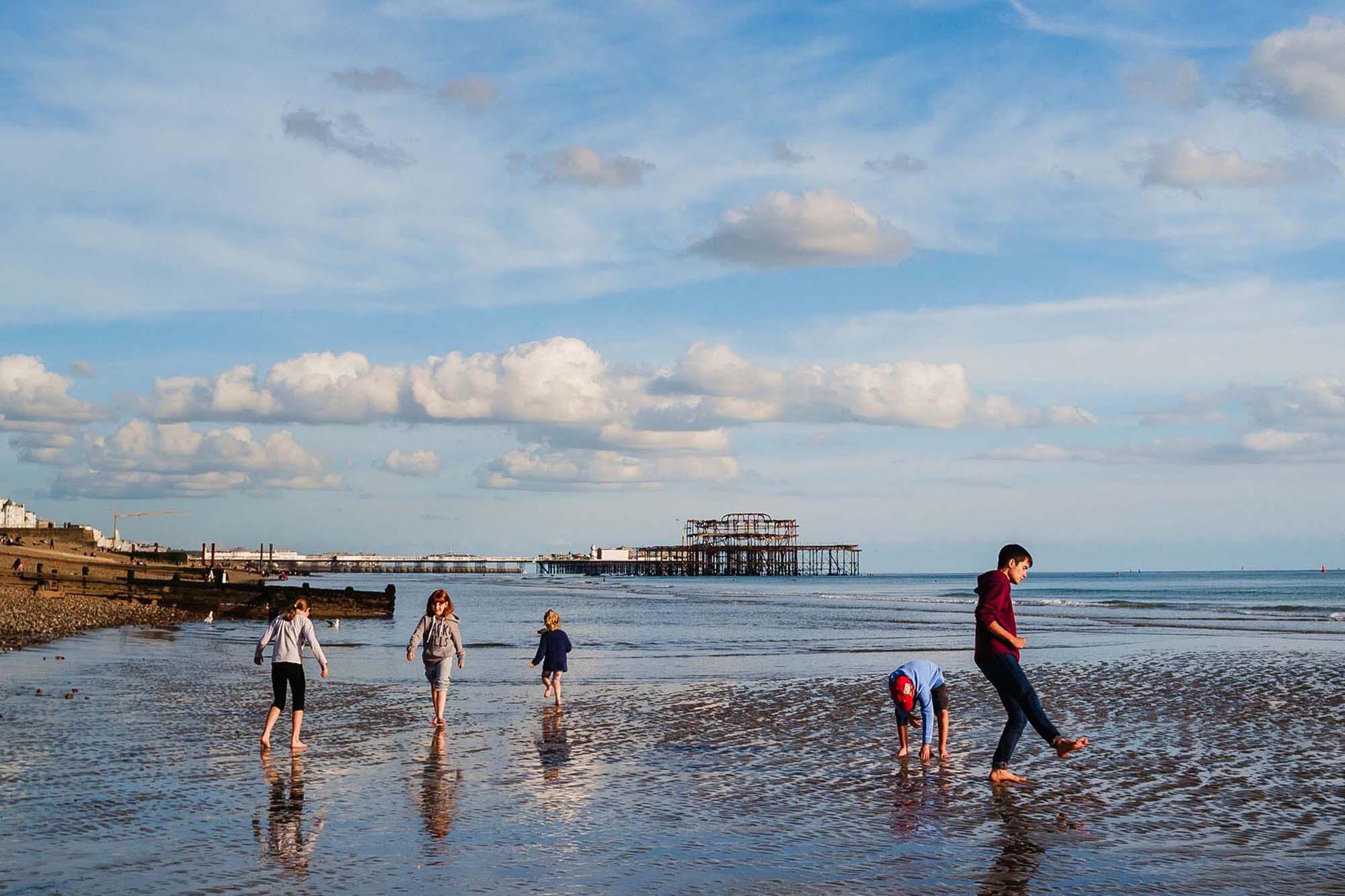 low tide mini family photo session