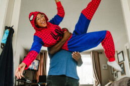 spiderman documenting family life