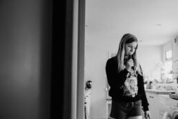 teenage daughter at home