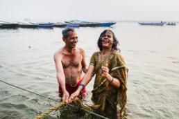 free of sins street phorography in India Ganges Varanasi