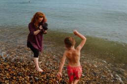 photoshoot at the beach family photography Brighton&Hove
