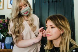 make up artist with client brighton worthing branding photography